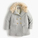J.Crew Girls' chateau faux-fur-collar coat