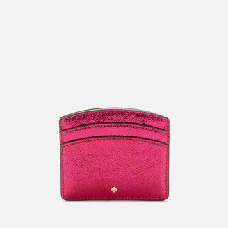 Kate Spade Women's Spencer Metallic Card Holder - Rhododendron