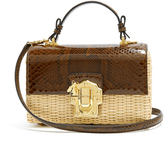 Dolce & Gabbana Lucia python and woven bag