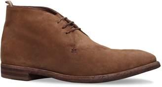 Officine Creative Suede 3 Eye Desert Boots