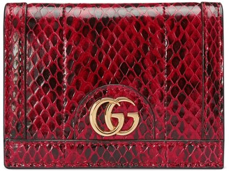 Gucci Ophidia snakeskin card case wallet