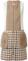 Drome patchwork shearling coat - women - Lamb Skin/Nylon/Acetate/Virgin Wool - S