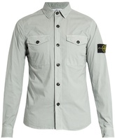 Stone Island Patch-pocket Cotton-blend Shirt