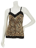 As Is Susan Graver Printed Liquid Knit Lace Trimmed Tank