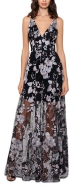 Xscape Evenings Embroidered Floral Gown