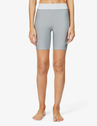 Alo Yoga Rider high-rise stretch-jersey cycling shorts