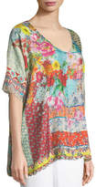 Johnny Was Luana Short-Sleeve Printed Tunic , Plus Size