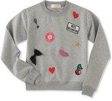 Kate Spade Girls' Patched Sweatshirt, Size 7-14