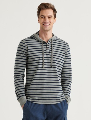Lucky Brand Washed Striped Shasta Hoodie