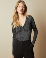 Ted Baker Metallic Knot Front Top