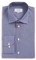 Eton Men's Contemporary Fit Microcheck Dress Shirt