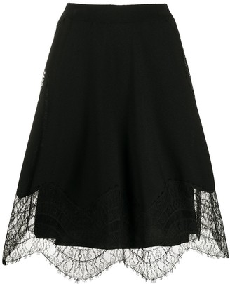 Givenchy lace details A-line skirt