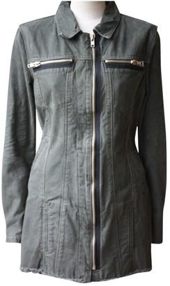 RtA Green Cotton Jacket for Women