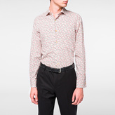 Paul Smith Men's Tailored-Fit Pink Floral Double-Cuff Shirt