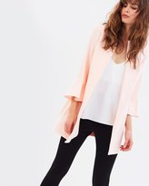 Dorothy Perkins Flute Sleeve Collarless Jacket