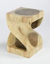 Saltford Twisted Teak Side Table Union Rustic