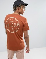 Volcom T-shirt With Back Print In Copper