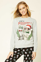 Forever 21 FOREVER 21+ Ready To Pawty PJ Sweatshirt