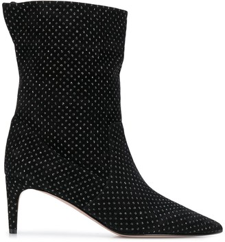 RED Valentino Embellished Ankle Boots