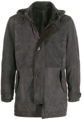 Ajmone Hooded Leather Coat