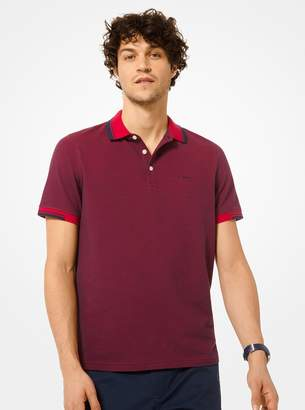 Michael Kors Greenwich Stretch Cotton Polo Shirt