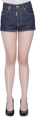 DSQUARED2 Indigo Dark Wash Stretch Denim Dalma Hot Pants S