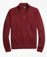 Brooks Brothers Cotton Cashmere Pique Half-Zip Sweater
