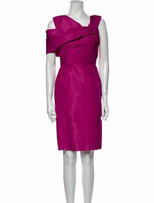 Oscar de la Renta Vintage Knee-Length Dress Pink