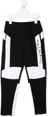 Balmain Kids Logo Print Track Trousers