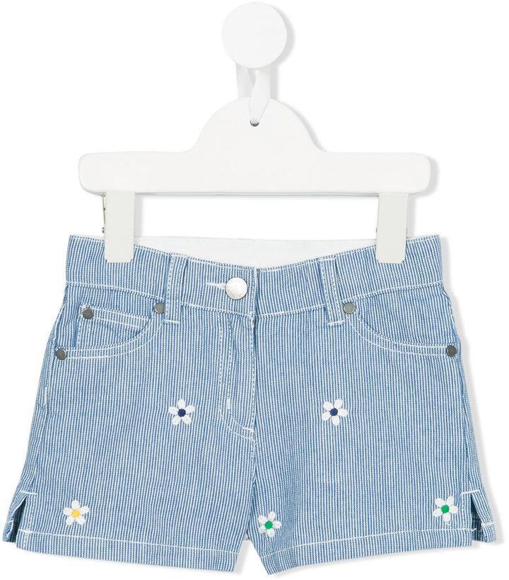 Stella McCartney striped denim shorts