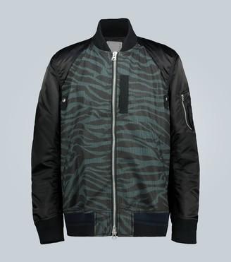 Sacai Zebra-printed bomber jacket