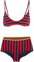 Stella McCartney Striped Triangle Bikini - Red