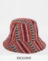 Reclaimed Vintage Bucket Hat - Red