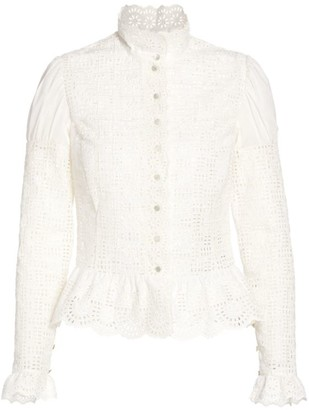 Ralph Lauren Bernice Embroidered Victorian Blouse