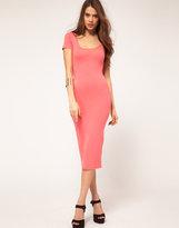 ASOS Midi Body-Conscious Dress With Short Sleeve
