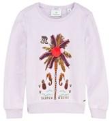 Scotch R'Belle Lilac Embellished Pom Pom Palm Tree Sweatshirt