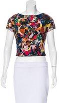 Alice + Olivia Short Sleeve Embellished Top w/ Tags