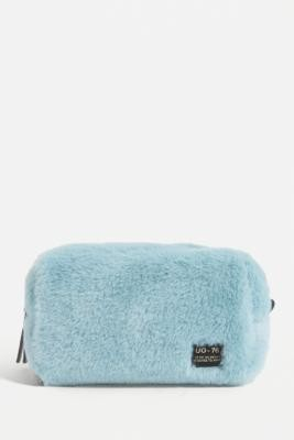 Urban Outfitters Fluffy Makeup Bag - Blue ALL at
