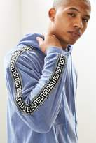 Urban Outfitters Velour Jacquard Taped Hoodie Sweatshirt