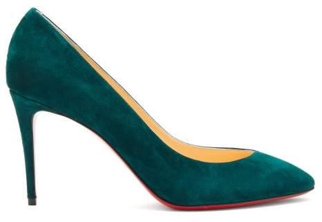 wholesale dealer bf172 2c2d0 Eloise 85 Suede Pumps - Womens - Dark Green