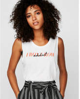 Express front row addict muscle tank