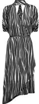 Raoul Metropolis Asymmetric Printed Silk-Twill Wrap Dress