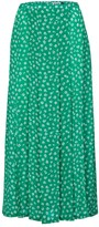 Thumbnail for your product : Rixo Claire floral silk midi skirt
