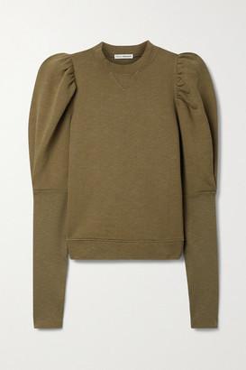 Ulla Johnson Philo Cotton-jersey Sweatshirt - Army green