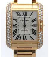 Cartier Tank Anglaise WT100004 18K Yellow Gold Automatic 47mm Mens Watch