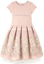 MonnaLisa Embroidered neoprene dress