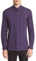 Versace Regular Fit Quartz Print Sport Shirt