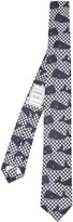 Thom Browne whale pattern tie - men - Silk - One Size