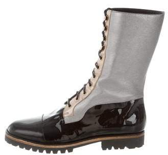 Rodarte 2015 Lace-Up Combat Boots w/ Tags