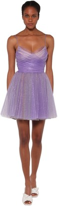 BROGNANO Glitter Tulle Mini Dress